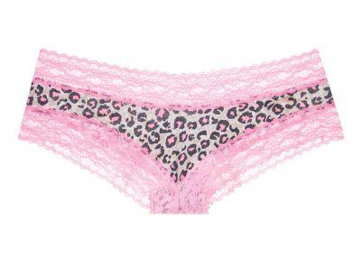 Victoria's Secret Kalhotky Cheeky (Pink Animal Print)