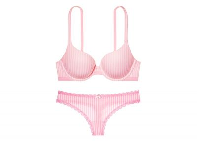Victoria's Secret Podprsenka Perfect Shape + Kalhotky Tanga (Victoria Stripes)