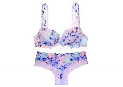 Victoria's Secret PINK Podprsenka Date + Kalhotky Cheekster (Pastel Tie Dye)