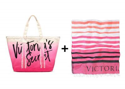 Souprava Victoria's Secret deka + kabelka (Pink)