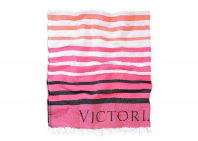 Victoria's Secret plážová deka (Pink Stripe)