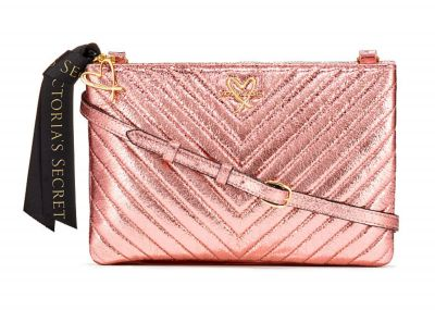 Victoria's Secret kabelka Crossbody (Metallic Pink)