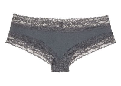 Victoria's Secret kalhotky Cotton Cheeky (Black Pearl)