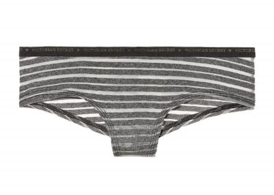 Victoria's Secret kalhotky Logo Cheeky (Black Stripe)