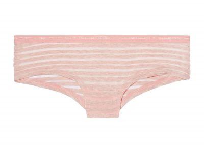 Victoria's Secret kalhotky Logo Cheeky (Pink Stripe)
