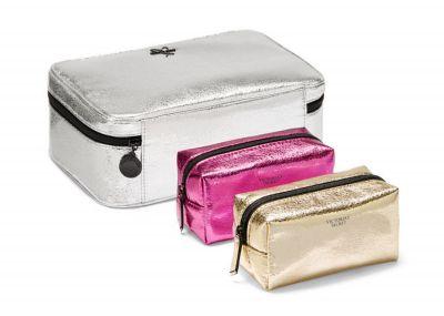 Victoria's Secret kosmetický kufřík + 2 taštičky (Silver)