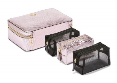 Victoria's Secret kosmetický kufřík + 3 taštičky (Pink Python)