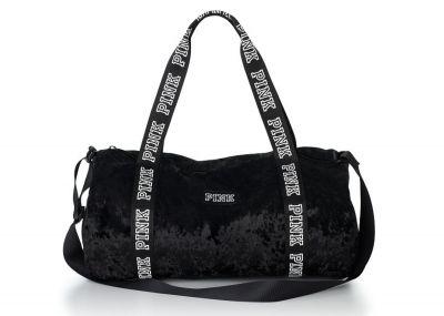 Victoria's Secret Pink cestovní taška Velvet (Black)
