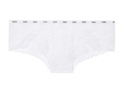 Victoria's Secret PINK kalhotky Cheekster Lace (White)