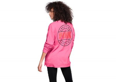 Victoria's Secret Pink Campus Long Sleeve Mesh Tee (Pink)