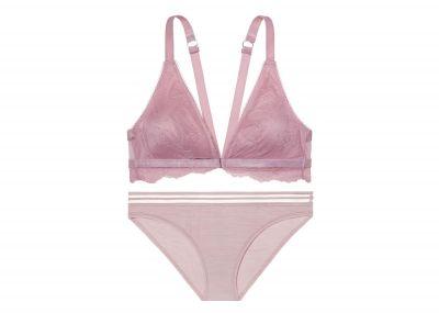 Victoria's Secret podprsenka Bralet + kalhotky Bikini (Lavender)