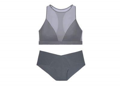 Victoria's Secret sportovní podprsenka + kalhotky Hiphugger (Black Pearl)
