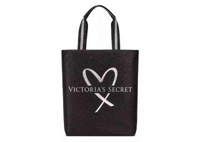 Victoria's Secret velká kabelka (Metallic Black)