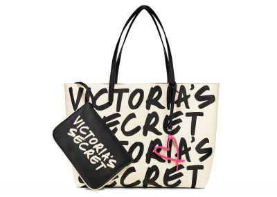 Victoria's Secret kabelka Wicked + taštička (Black/White)