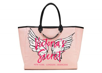 Victoria's Secret kabelka Angel City Tote (Graffiti Pink)