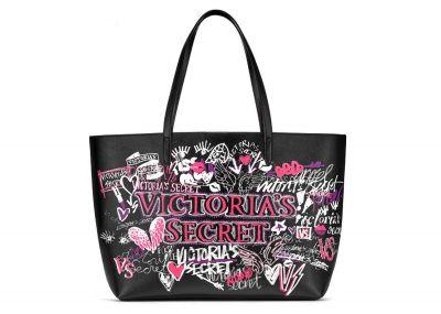 Victoria's Secret kabelka Graffiti Everything Tote (Black)