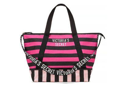 Victoria's Secret kabelka Weekender Tote (Pink/Black)