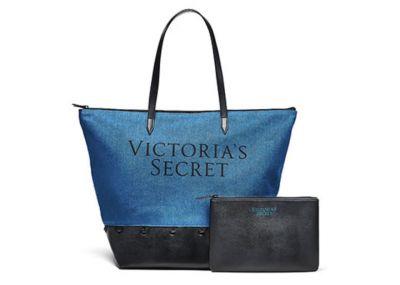 Victoria's Secret kabelka Weekender Tote + Taštička (Jeans/Black)