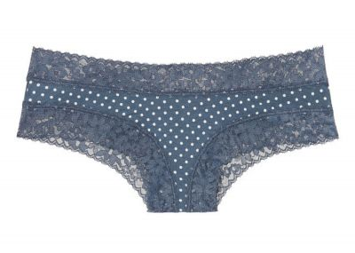 Victoria's Secret kalhotky Cheeky Cotton (Blue Dot)