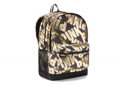Victoria's Secret Pink Campus Backpack (Black Gold Logo)