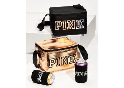 Victoria's Secret Pink chladící taška + obal na plechovku (Black)
