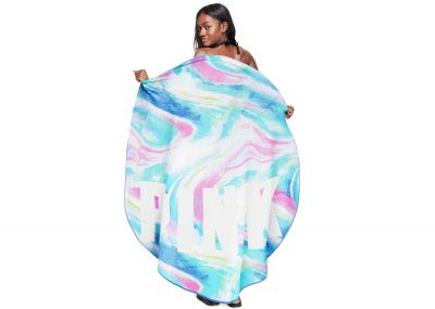 Victoria's Secret Pink plážový ručník (Marble Print)