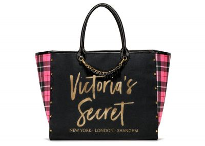 Victoria's Secret kabelka Angel City Tote (Pink Plaid)