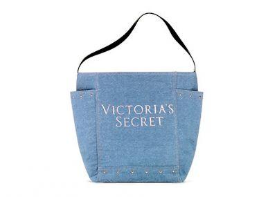 Victoria's Secret kabelka Denim Tote (Blue)