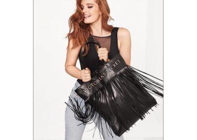 Victoria's Secret kabelka Fringe Tote (Black)