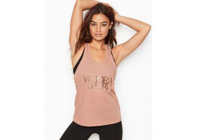 Victoria's Secret sportovní tílko Tie-Back (Pink)