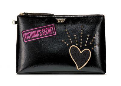 Victoria's Secret velká kosmetická taštička/psaníčko (Black Patch)