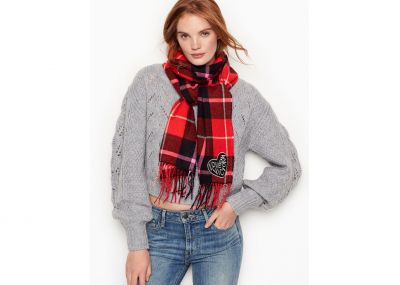 Šála Victorias Secret (Red Plaid)