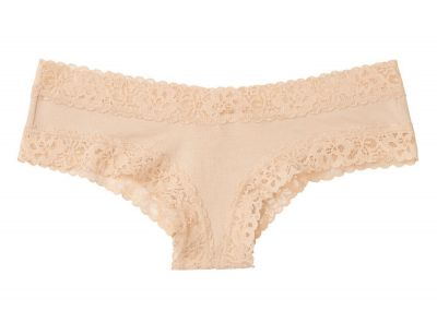 New! Victoria's Secret kalhotky Cheeky Cotton (Nude)