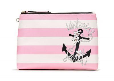 Victoria's Secret kosmetická taštička/pouzdro na plavky (Pink Stripe)
