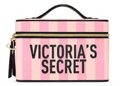 Victoria's Secret kosmetický kufřík Vanity Case (Pink Stripe)