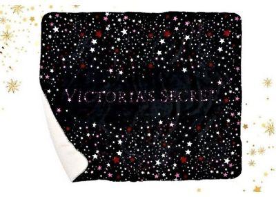 Victoria's Secret luxusní huňatá deka Sherpa (Black Star)