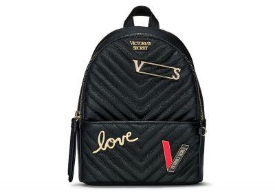 Victoria's Secret mini Backpack (Black Patch)