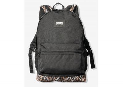 Victoria's Secret Pink Campus Backpack (Black Leopard)