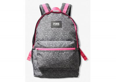 Victoria's Secret Pink Campus Backpack (Dark Grey Pink)