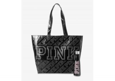 Victoria's Secret Pink taška + láhev (Black)