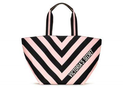 Victoria's Secret plážová kabelka (Black Stripe)
