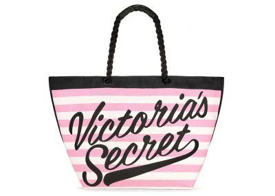 Victoria's Secret plážová kabelka (Pink Stripe)
