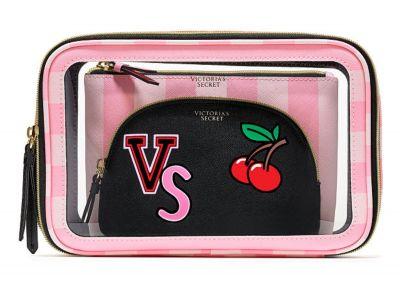 Victoria's Secret trio kosmetických taštiček (Pink Cherry)