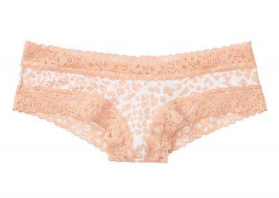 Kalhotky Victorias Secret střih Brazilky Cotton Lace (Nude Leopard)