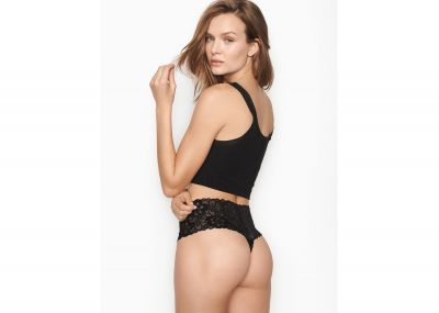 Kalhotky Tanga Victorias Secret Lacie Wide-Waistband (Black)