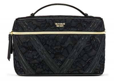 Kosmetický kufřík + taštička Victorias Secret (Black Lace)
