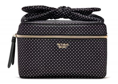 Kosmetický kufřík + taštička Victorias Secret (Black Dot)