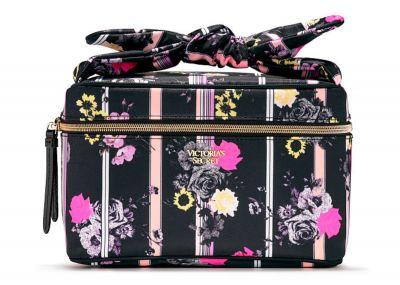 Kosmetický kufřík + taštička Victorias Secret (Black Floral)