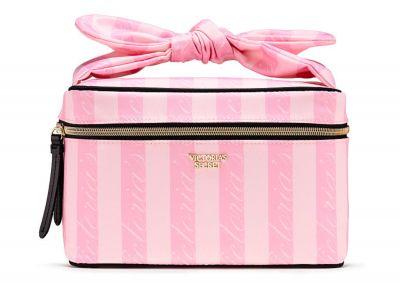 Kosmetický kufřík + taštička Victorias Secret (Victoria Stripe)