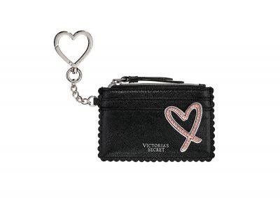 Victoria's Secret minipeněženka/cardcase (Black Heart)